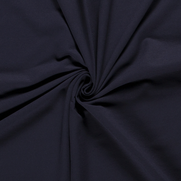 French Terry fabric Unicolour Navy