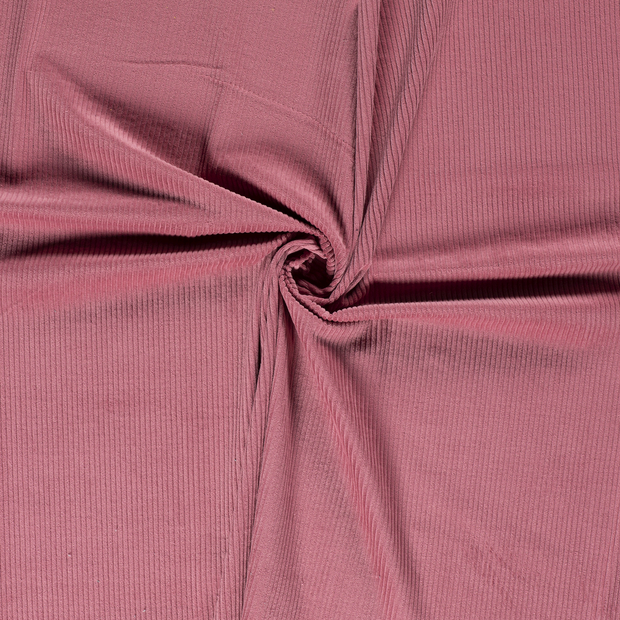 Corduroy fabric Old Pink