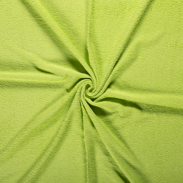 Towelling fabric Lime Green