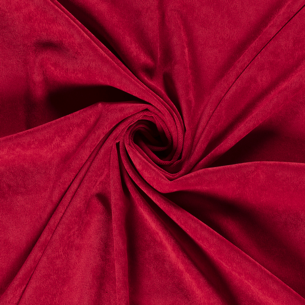 Corduroy fabric Unicolour Dark Red