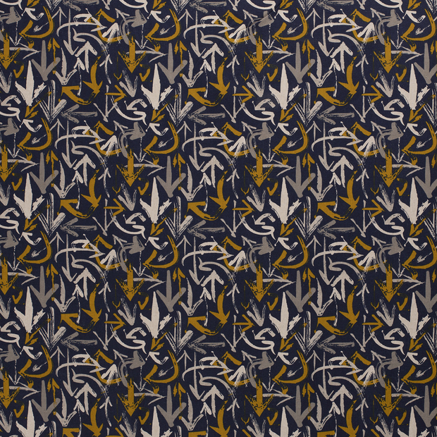 Panama fabric Navy matte