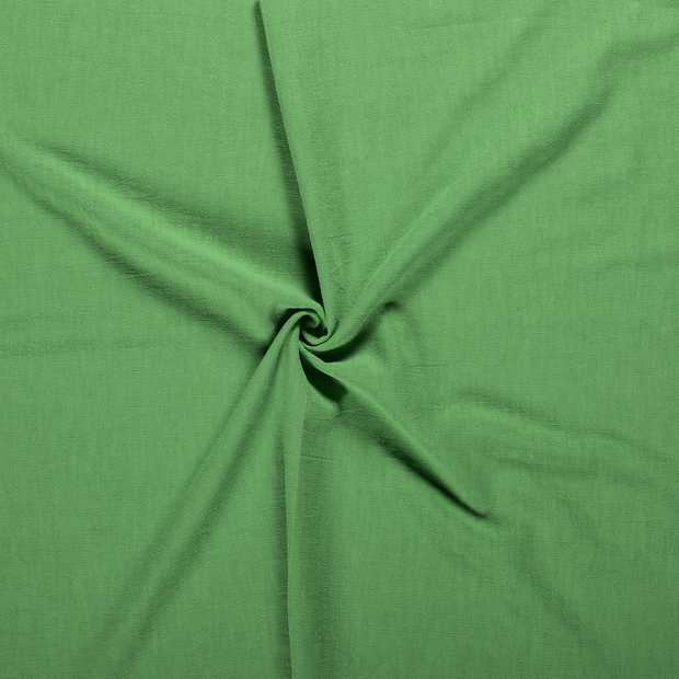 Ramie Linen fabric Green stonewashed