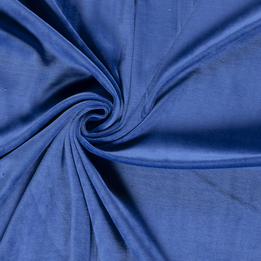 Nicky velours fabric Unicolour Cobalt