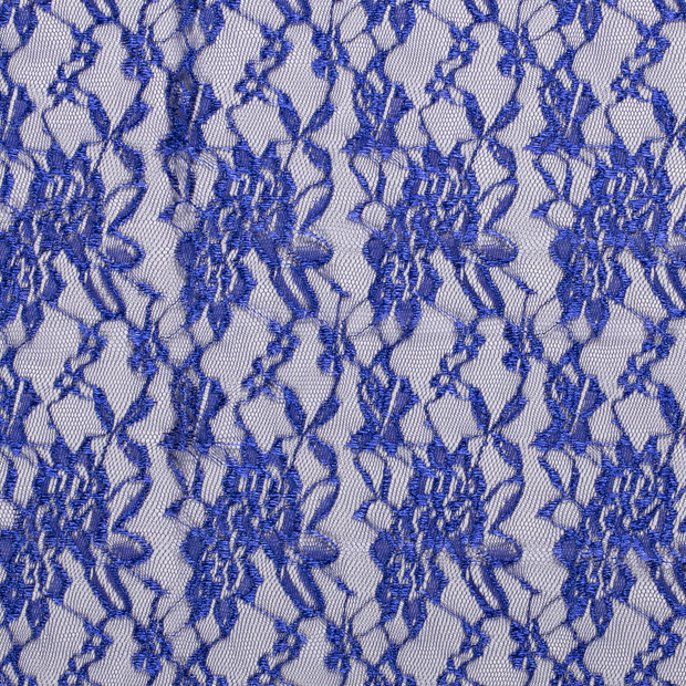 Lace fabric Unicolour Cobalt