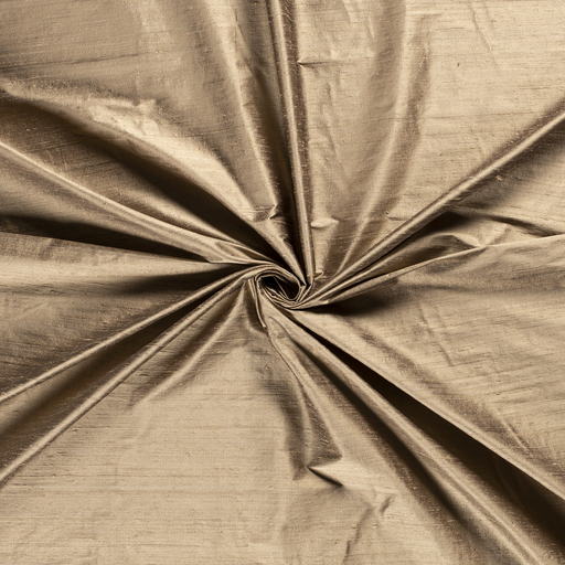 Silk Dupion fabric Gold