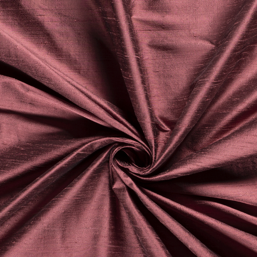 Silk Dupion fabric Unicolour Old Pink