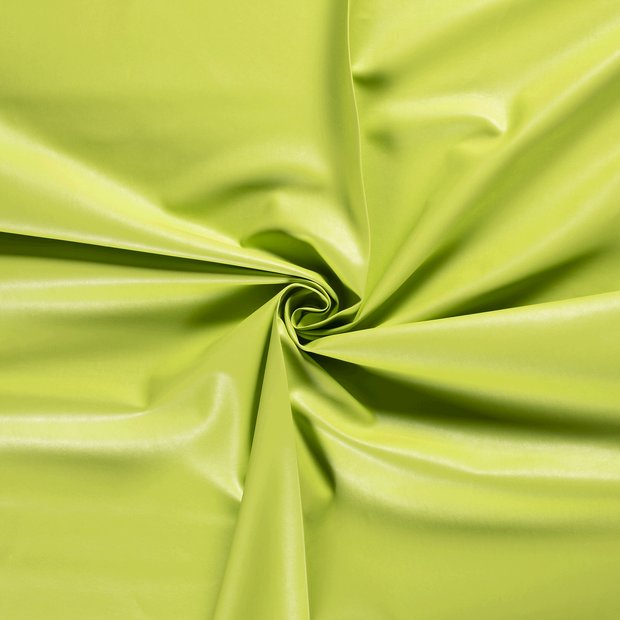 Imitation leather fabric Lime Green backed