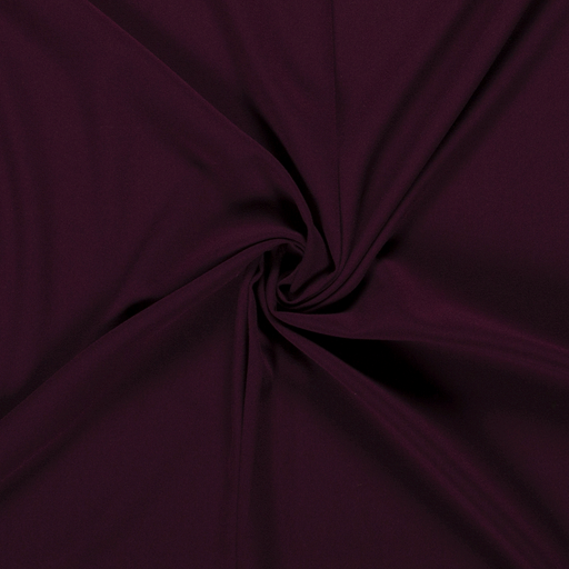 Crepe Fabric fabric Unicolour Wine red