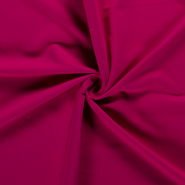French Terry fabric Unicolour Fuchsia