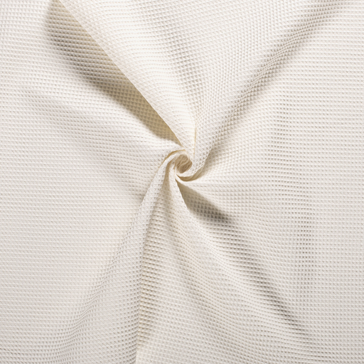 Towelling fabric Off White