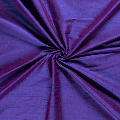 Silk Dupion fabric Purple