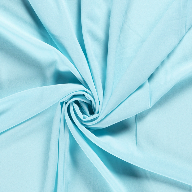 Georgette fabric Unicolour Aqua