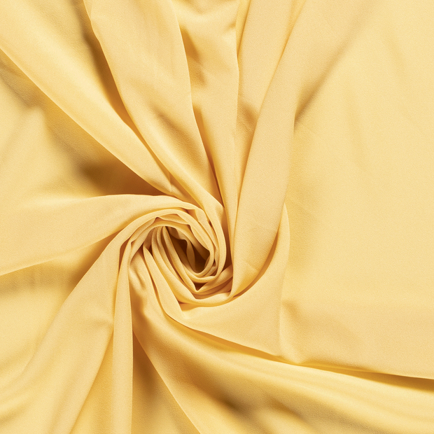 Georgette fabric Unicolour Light Yellow