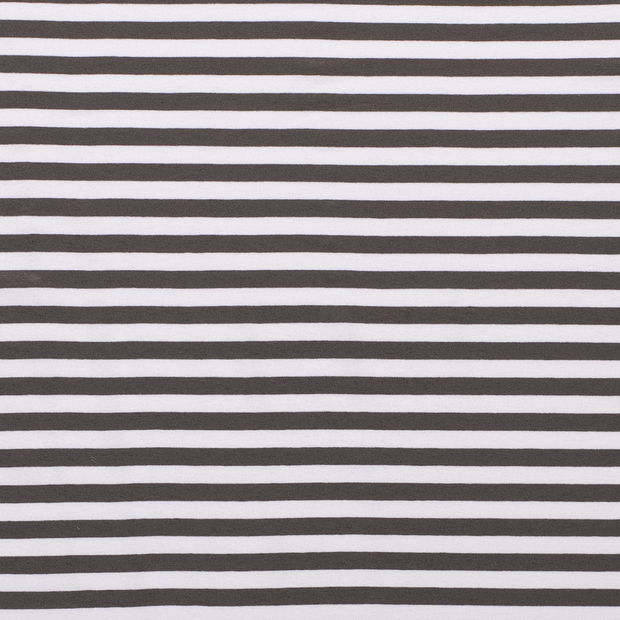 Jersey fabric Stripes Taupe Brown