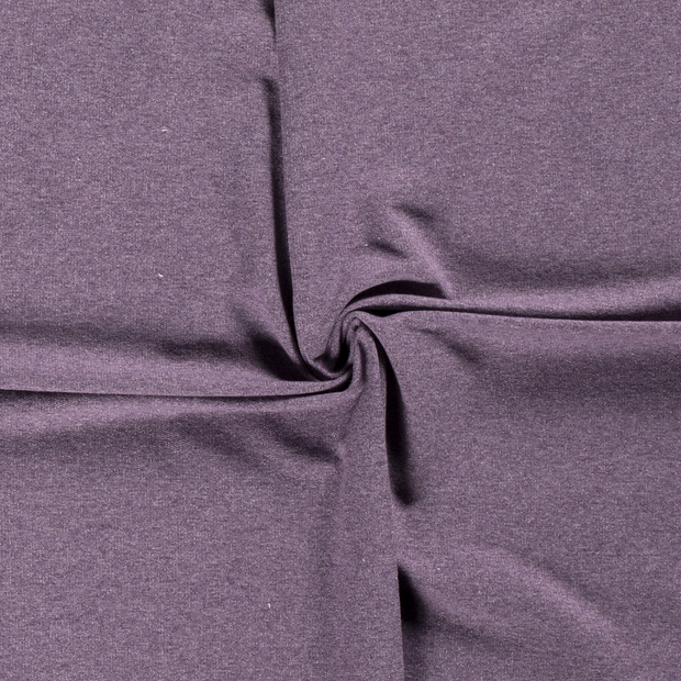 French Terry fabric Unicolour Purple