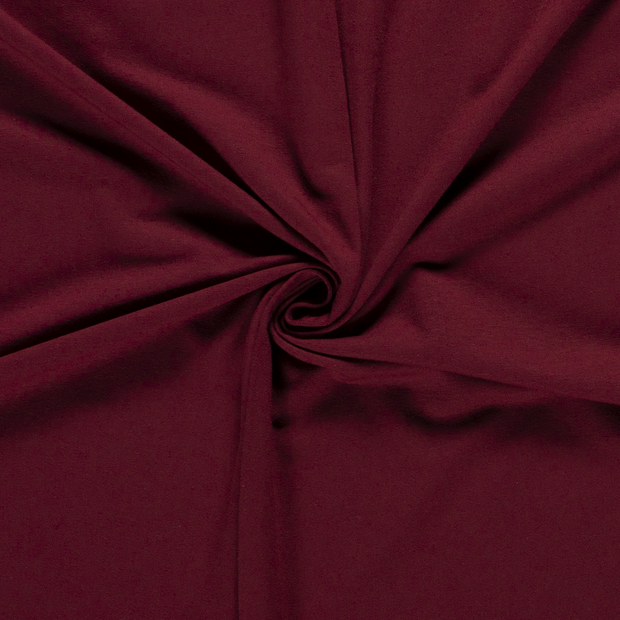 French Terry fabric Unicolour Bordeaux