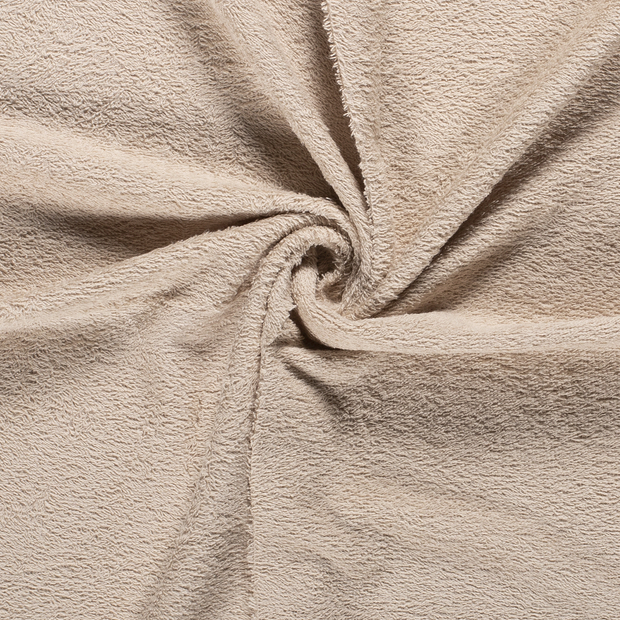 Towelling fabric Unicolour Beige