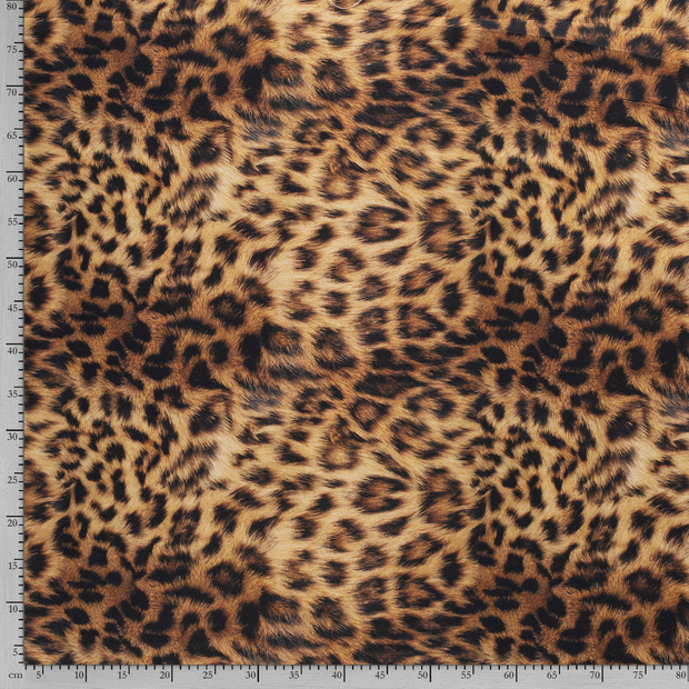Panama fabric Camel digital printed