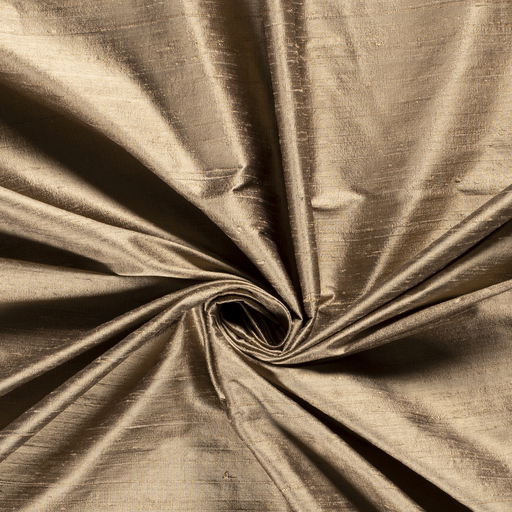 Silk Dupion fabric Unicolour Gold