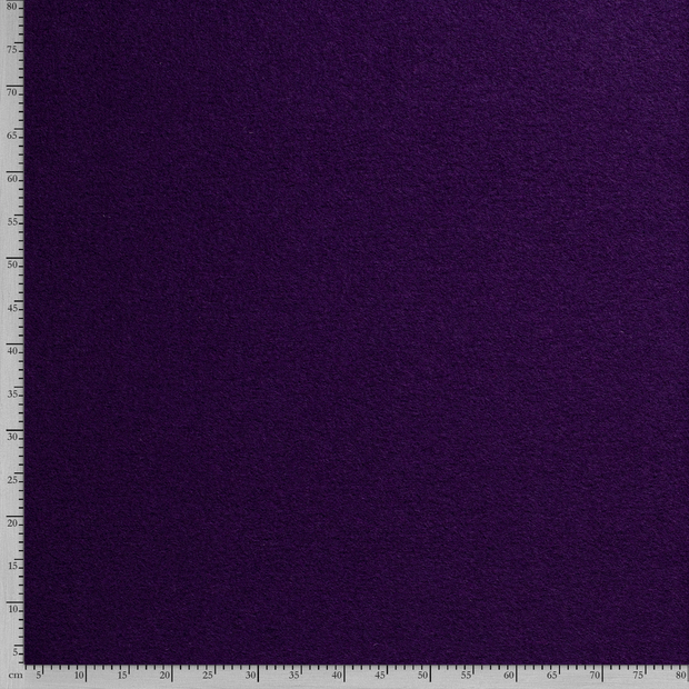 Boiled wool fabric Unicolour Carbon