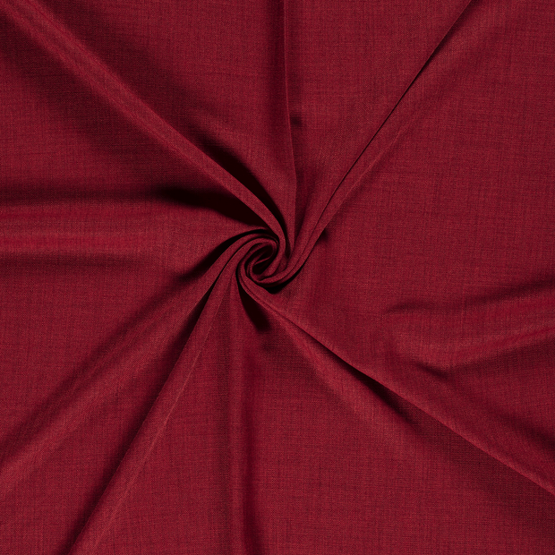 Panama fabric Dark Red
