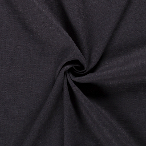 Pure linen fabric Unicolour Dark Grey