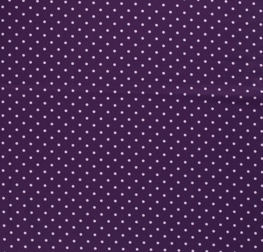 Tricot fabric Dots Purple
