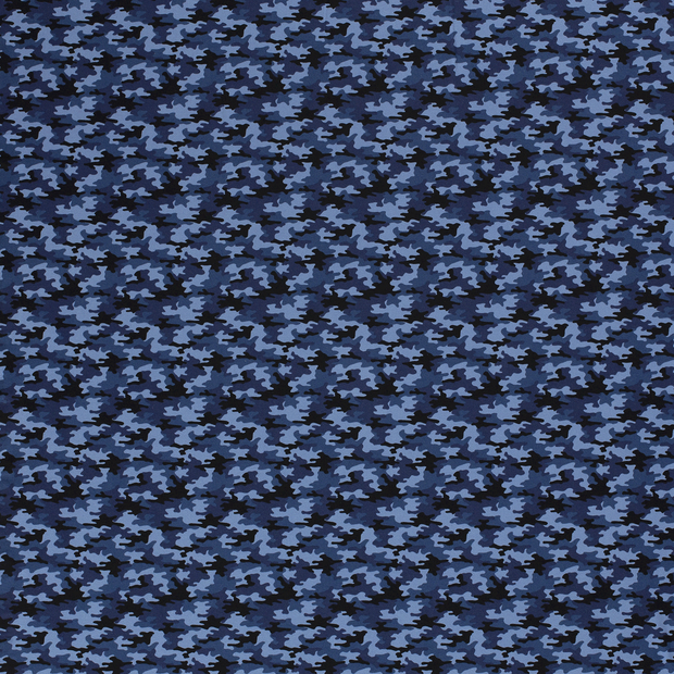 Tricot fabric Navy soft