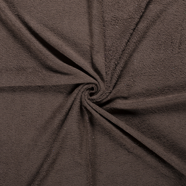 Towelling fabric Taupe Brown