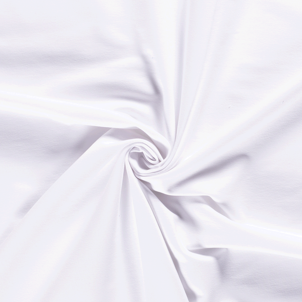 French Terry fabric Unicolour Optical White