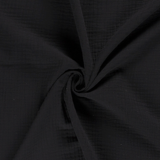 Muslin fabric Unicolour Black