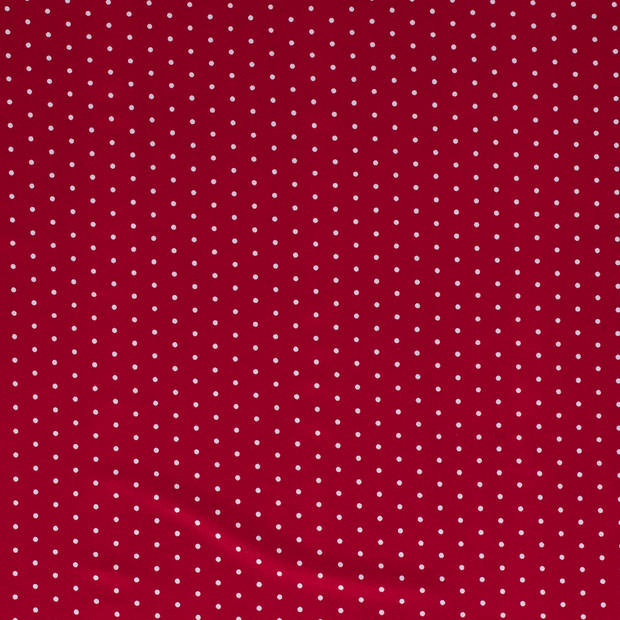 Jersey fabric Dots Red