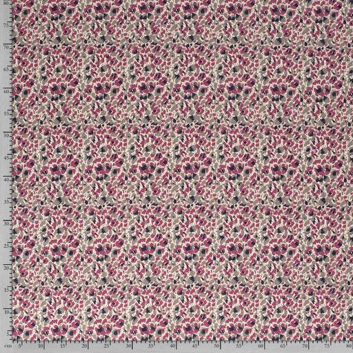 Linen Look fabric Fuchsia printed