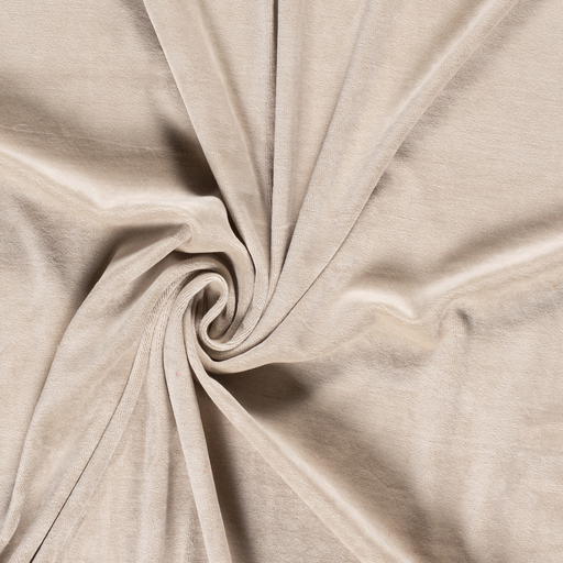 Nicky velours fabric Unicolour Beige