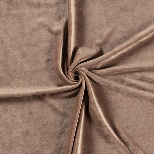 Velvet fabric Unicolour Camel