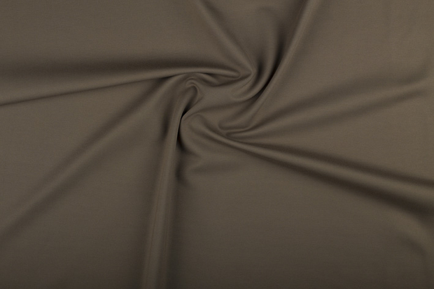 Punta Di Roma fabric Unicolour Taupe Brown