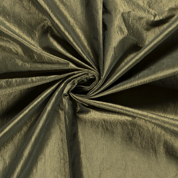 Taffeta fabric Unicolour Khaki Green