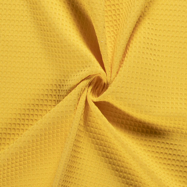 Towelling fabric Unicolour Yellow
