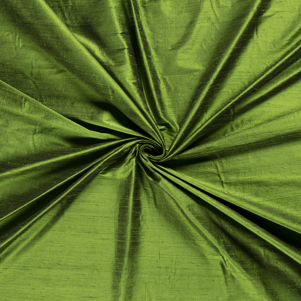 Silk Dupion fabric Forest Green
