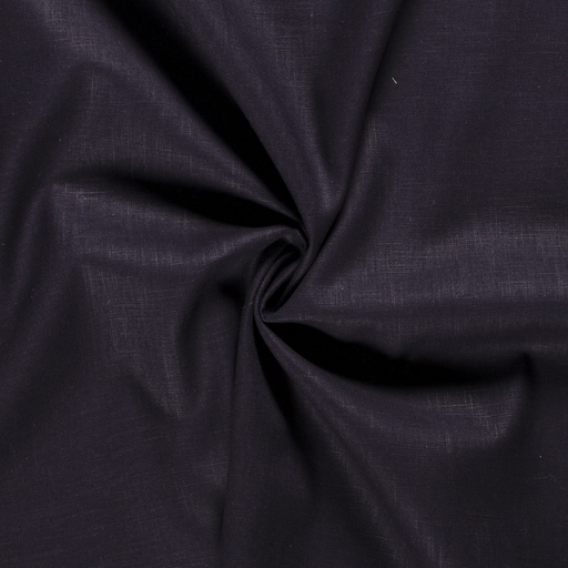 Pure linen fabric Unicolour Carbon