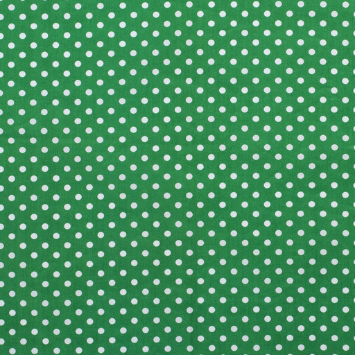 Poplin fabric Dots Forest Green