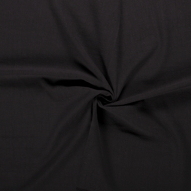 Ramie Linen fabric Black stonewashed