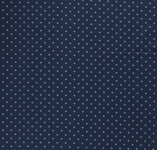 Tricot fabric Dots Navy