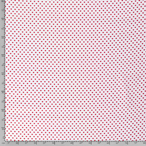 Poplin fabric Hearts printed
