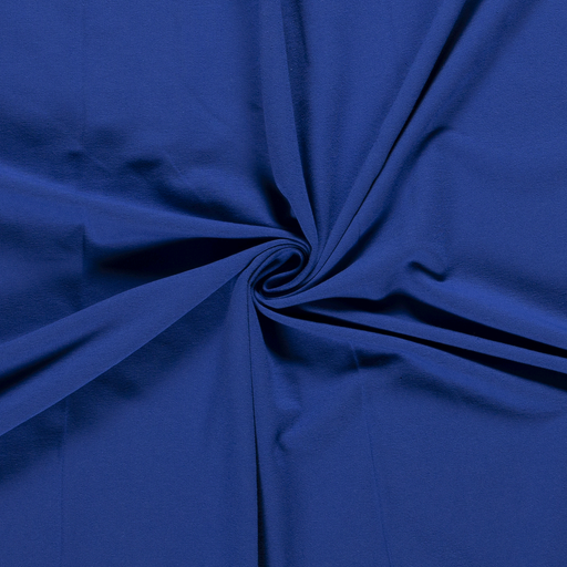 French Terry fabric Unicolour Cobalt