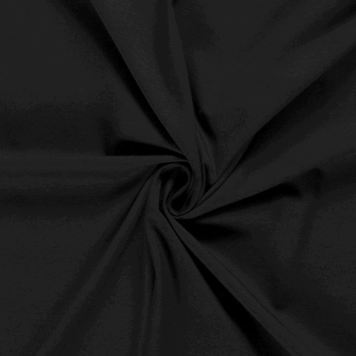 Tricot fabric Unicolour Black