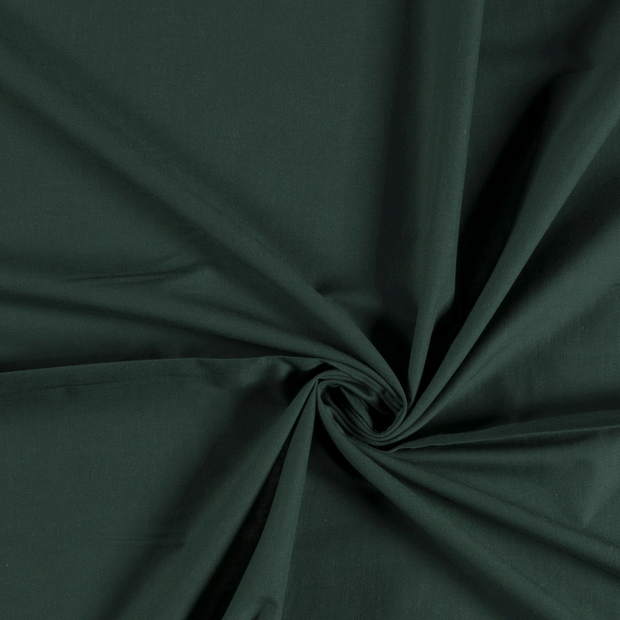 Voile fabric Unicolour Dark Green