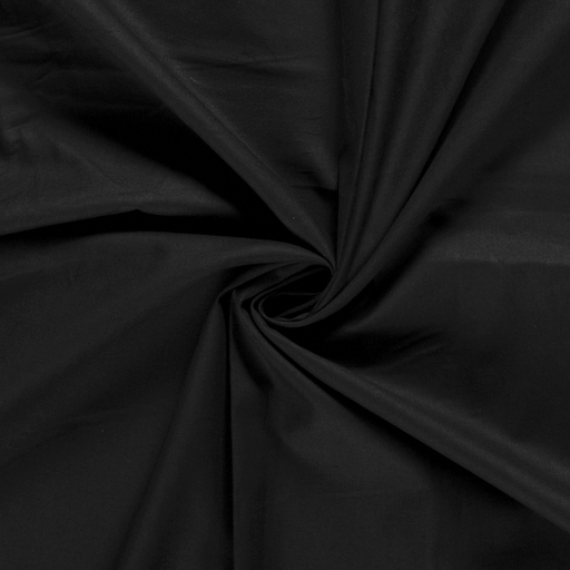 Cretonne fabric Unicolour Black