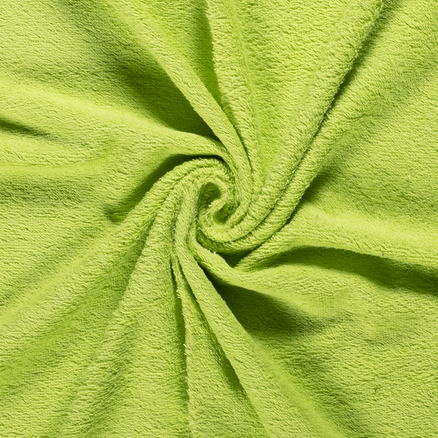 Towelling fabric Unicolour Lime Green