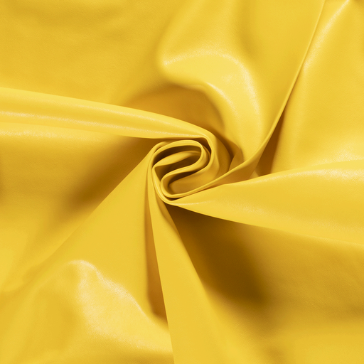 Imitation leather fabric Unicolour Hard Yellow